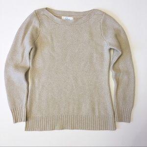 ELORIE cashmere metallic shimmer sweater M